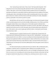 Banning Violence Persuasive Essay