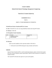 DSP Lab Manual Experiment no 6