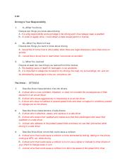 drivers ed final exam answer key flvs