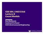Lecture 8 - Count Models