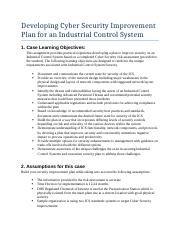 Developing ICS Cyber Security Improvement Plan(5).docx