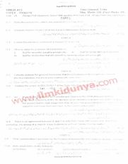 Past Papers 2012 AJK University LLB Part 3 Minor Acts
