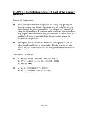 Chapter 6- Solution to selected back of the ch problems_56518