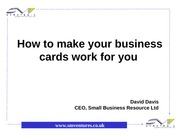 SMV Business Cards Powerpoint