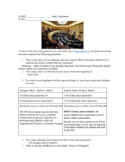 AP Gov General Assembly Assignment