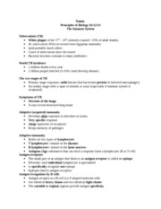 Notes Principles of Biology Immune SYSTEM 4