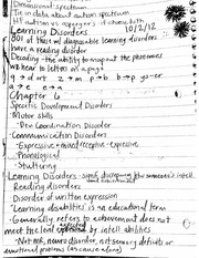 Learning disorders, oppositional defiant disorder, conduct disorder