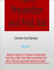 Injury Prevention and First Aid