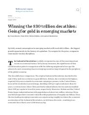 Winning the $30 trillion decathlon_ Going for gold in emerging markets _ McKinsey & Company