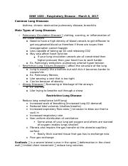 KINE 1020 - RESPIRATORY DISEASES PT 1. - MARCH 8.docx