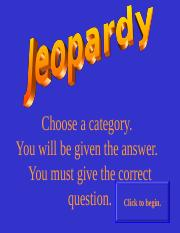 Exam 1 Jeopardy.ppt