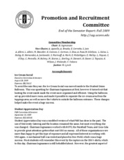 Fall 2009 - Promotion and Recruitment Committee Report
