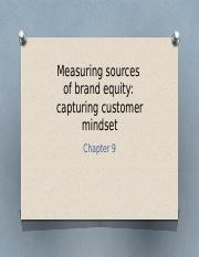 8.2 Measuring sources of brand equity 143(1)