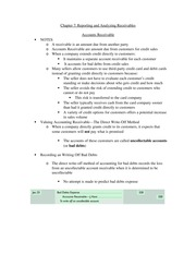 Accounting Chapter 7 Review Sheet