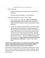 Professional Liability - Class Note