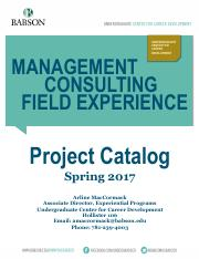 Spring 2017 MCFE Project Catalog