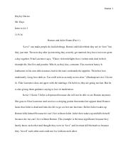 Romeo and Juliet Exam PDF