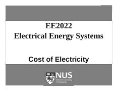 EE2022 Cost of electricity 27-10-2011