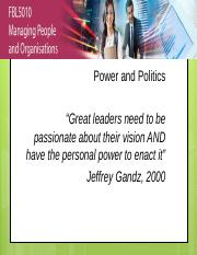 Lecture 11 Power and Politics.pptx