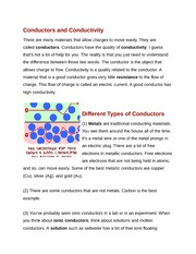 Conductors and Conductivity