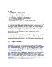 Descartes' Cartesian Circle as a Misinterpretation Essay Sample