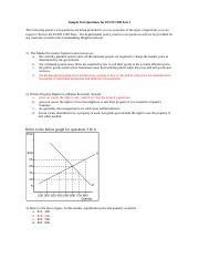 Sample questions for Test 1