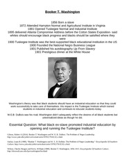 Presentation Handout- Booker T Washington