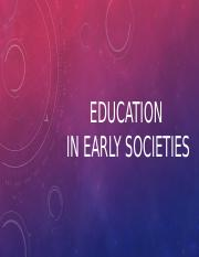 Education in early societies - Copy