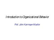 Introductory Lecture--Organizational Behavior no pix