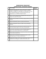 KNOWLEDGE CHECKLIST FOR OPERATIONAL DECISION MAKING.pdf