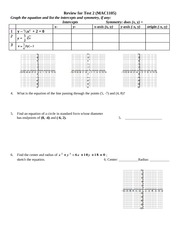 Test2 Review Sheet