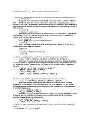Acid/Base Titration Worksheet