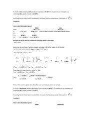 Calorimetry hw3