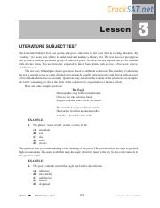 ARCO SAT Subject Literature Practice Test