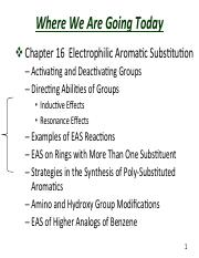 Slides  Chapter 16  Electrophilic Aromatic Substitution(1)