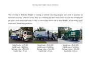 Recycling Truck Example 1 (Service Alternatives)