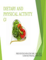 Dietary and Physical Activity Guidelines online