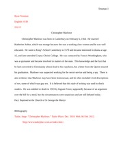 Essay on Christopher Marlowe