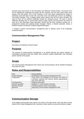 recreation and wellness intranet project project risk A project manager is ultimately responsible for the planning and execution of the quality assurance plan template for recreation and wellness intranet project iii.