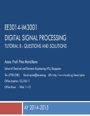 EE3014-IM3001 Part2 AY2014-2015 Tutorial Questions and Solutions.pdf