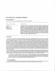job analysis for a changing workplace.pdf