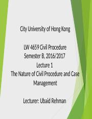 The Nature of Civil Procedure and Case Management.ppt