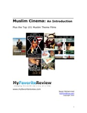 Javed Mohammed - Muslim Cinema ~ An Introduction, Plus the Top 101 Muslim Theme Films