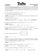 Math 51 Exam 1, Spring 2013 Solutions