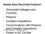 Lecture 8 - Sinusoidal Analysis Part I