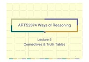 Lecture_ARTS2374 lect 05 - truth tables