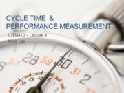 ITM410 Week 4 Lecture 2015 - cycle time and performance metrics