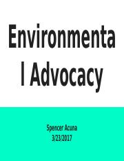U3 Enviro Health: Task 3.03 advocate for air and water.pptx