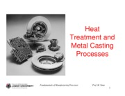 ch05 - Heat treatment and Metal Casting