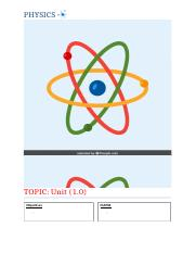 Revision Template - Physics.docx